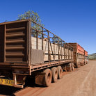 Picture - Cattle transport truck in the Outback.