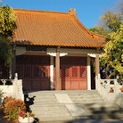 Picture - A building at the Chinese Cultural Garden in Overfelt Park in San Jose.