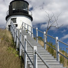 Picture - Stairs lead to Lighthouse at Owl's Head, Maine.