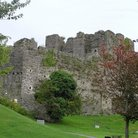 Picture - Oystermouth Castle near Swansea.