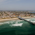 Picture - An aerial view over Pacific Beach, San Diego.