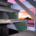 Picture - Sunset under the Steps, Shelter Cove, Pacifica.
