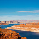 Picture - The winding, blue waters of Glen Canyon.