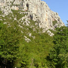 Picture - A dramatic cliff face in Paklenica National Park.