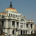 Picture - The marble building of the Palacio de Bellas Artes in Mexico City.