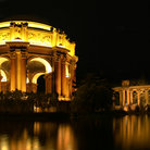 Picture - Night view of the Palace of Fine Arts in San Francisco.