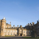 Picture - Front view of Holyrood Palace in Edinburgh.