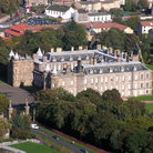 Picture - Aerial view of the Palace of Holyrood, Edinburgh.