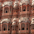 Picture - Many windows on the side of the Hawa Mahal, Palace of the Winds, in Jaipur.