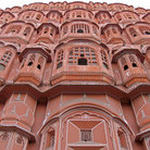 Picture - Facade of the Wind Palace in Jaipur.