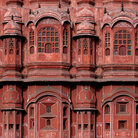 Picture - Detail from the Palace of Winds in Jaipur.