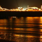 Picture - The Brighton Pier at night.