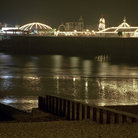 Picture - Night view of Brighton Pier.