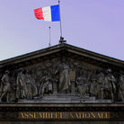 Picture - Ornate roof of the National Assembly in Paris.