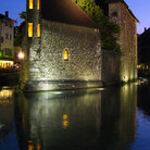 Picture - Palais de l'Isle in Annecy at night.