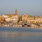 Picture - View of Palamos from the ocean.