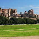 Picture - Ancient Roman stadium on Palatine Hill in Rome.
