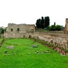 Picture - Green grass at the Roman stadium on Palatine Hill in Rome.