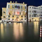Picture - Night view of Palazzo Cavalli-Franchetti in Venice.