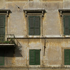 Picture - Windows on Piazza Farnese, Rome.