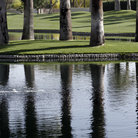 Picture - A water hazard on a Palm Desert golf course.