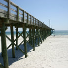 Picture - Beach and pier at Panama City Beach.