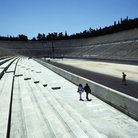 Picture - The Olympic Stadium in Athens.