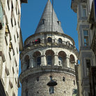 Picture - Galata Tower in Istanbul originally built in Byzantine times, was restored in 1423 by the Genoese and again in 1875.