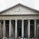 Picture - Entrance to the Pantheon in Rome.