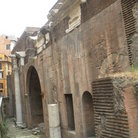 Picture - The side wall and the ruins near the Pantheon in Rome.