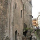 Picture - The 2000 year old side wall of the Pantheon in Rome.