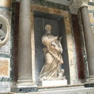 Picture - Marble statue inside the Pantheon in Rome.