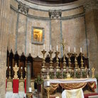 Picture - The opulent interior of the Pantheon in Rome, which became a church in 609.
