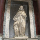 Picture - The marble statue inside the Pantheon in Rome.