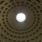 Picture - Interior of the dome of the Pantheon in Rome.