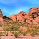 Picture - Red Rocks of Papago Park in Phoenix.