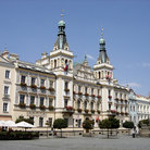 Picture - The town hall square in Pardubice.