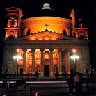 Picture - Night view of the Mosta Cathedral.
