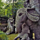 Picture - Sculptures at the Park of Monsters in Bomarzo.