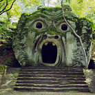 Picture - Carved monster in Bomarzo.
