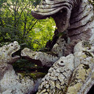 Picture - Monster carving at the Monster Park in Bomarzo.