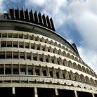 Picture - Parliament Beehive and assembly in New Zealand's capital of Wellington.