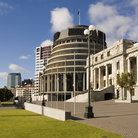 Picture - Parliament building in Wellington.