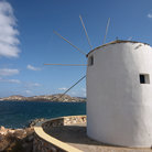 Picture - View of Windmill and the sea from Paros.
