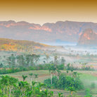 Picture - A misty morning in the valley of Parque Nacional Vinales.