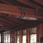 Picture - Hand shaped beams of the Gamble House, Pasadena.