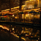 Picture - Night time on the River Walk in San Antonio.