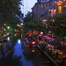 Picture - Evening at the River Walk in San Antonio.