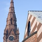 Picture - Steeple on Saint John's Church in Paterson.
