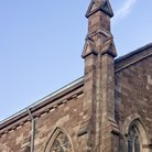Picture - Spire on Saint John's Church in Paterson.